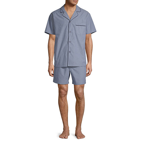 Stafford Men's Notch Collar Short Sleeve Pajama Set