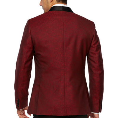 JF J.Ferrar Grid Slim Fit Stretch Tuxedo Jacket