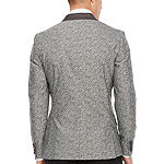 JF J.Ferrar Mens Floral Stretch Super Slim Fit Tuxedo Jacket
