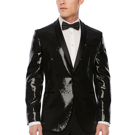 JF J.Ferrar Slim Fit Sequin Tuxedo Jacket