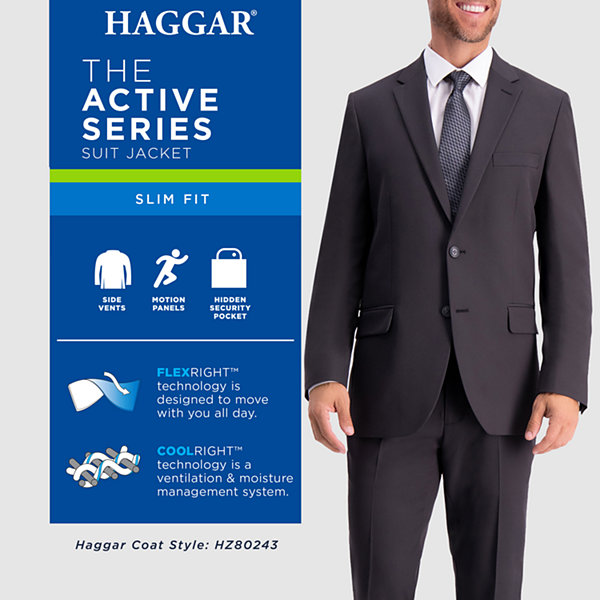 Haggar Mens in Motion Travel Stretch Tailored Fit Blazer