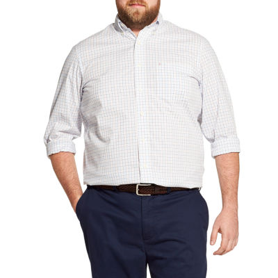 IZOD Premium Essential Woven Long Sleeve Button-Front Shirt-Big and Tall