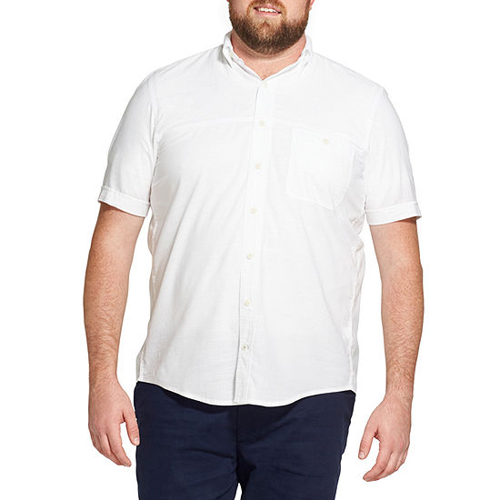 IZOD Short Sleeve Button-Front Shirt-Big and Tall