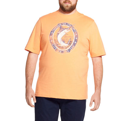 IZOD Mens Crew Neck Short Sleeve Graphic T-Shirt-Big and Tall