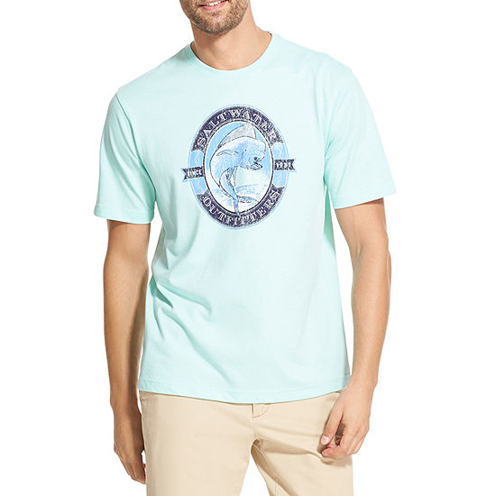 Izod Mens Crew Neck Short Sleeve Graphic T Shirt Big And Tall