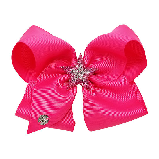JoJo Siwa Pink Bow With Stone Star Motif
