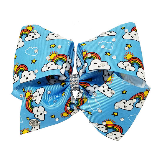 JoJo Siwa Turquoise Bow With Rainbow And Clouds