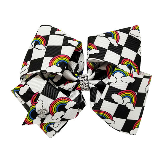 JoJo Siwa Black & White Checkerboard With Rainbows