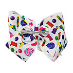 JoJo Siwa White Bow With Candy Print