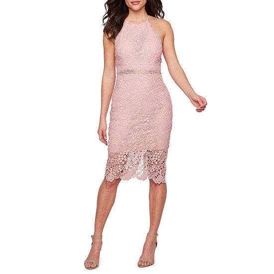 Premier Amour Sleeveless Lace Sheath Dress