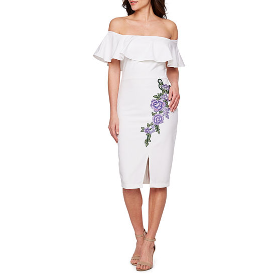 0b13bdcf Premier Amour Off The Shoulder Embroidered Sheath Dress - JCPenney