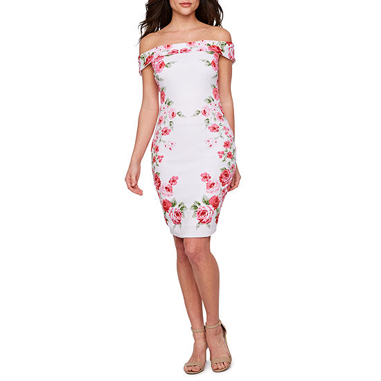 cdae53e3 Premier Amour Off The Shoulder Floral Sheath Dress - JCPenney