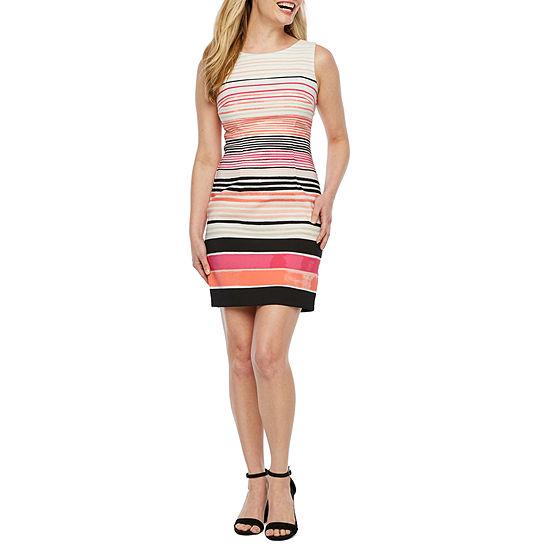 Alyx Sleeveless Striped Sheath Dress-Petite