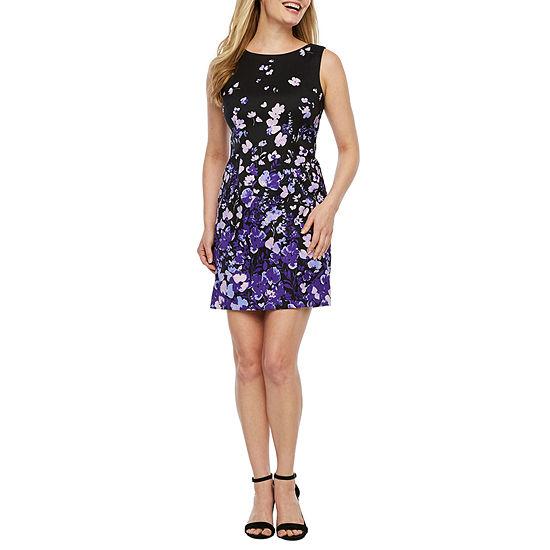 Alyx Sleeveless Floral Sheath Dress-Petite