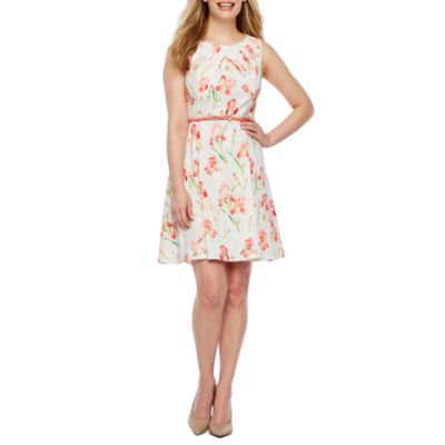 Alyx Sleeveless Floral Fit & Flare Dress-Petite