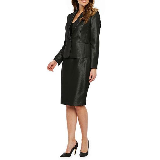 Le Suit Pin Dot Skirt Suit