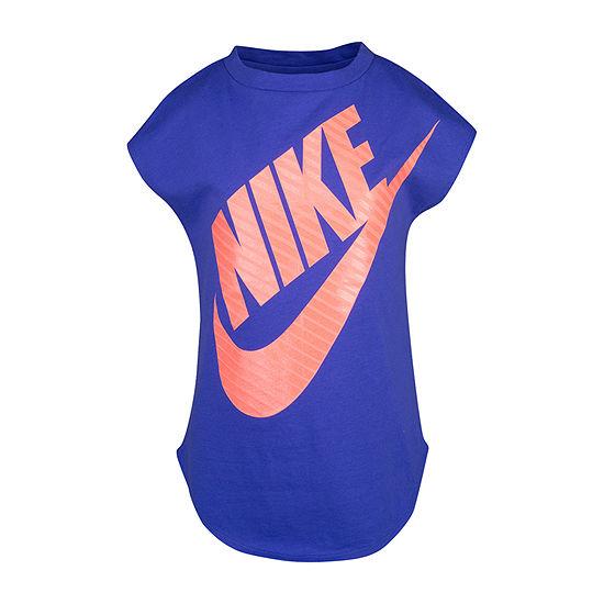 Nike Girls Crew Neck Short Sleeve T-Shirt-Toddler
