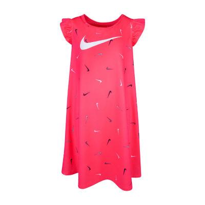 Nike Short Sleeve Skater Dress - Toddler Girls