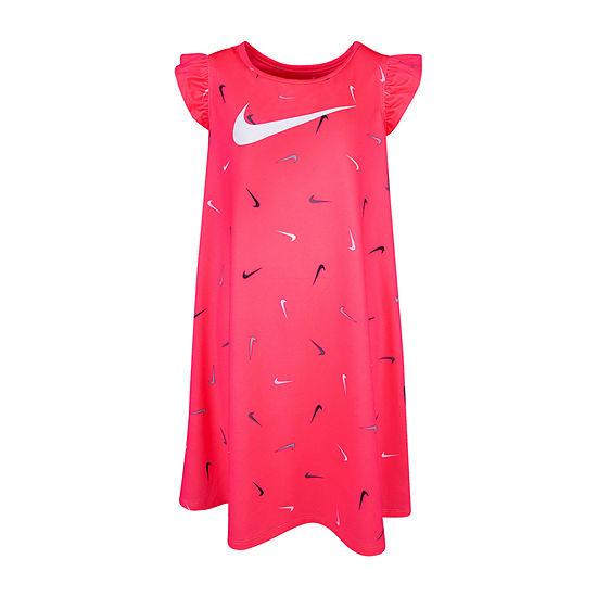 Nike Girls Short Sleeve Skater Dress - Toddler