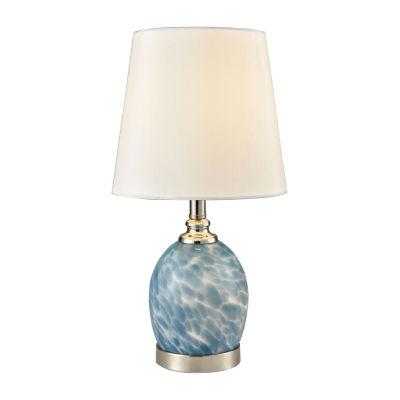 Dale Tiffany Blue Marble Art Glass Desk Lamp