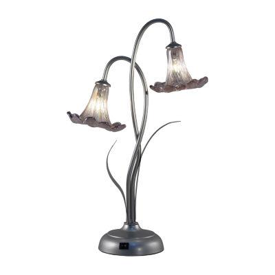Dale Tiffany Ballerina Trumpet Led Art Glass Desk Lamp
