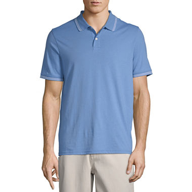 St. Johns Bay Mens Short Sleeve Polo Shirt