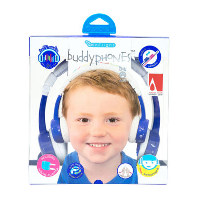 BuddyPhones Inflight Kids Volume-Limiting Foldable Headphones