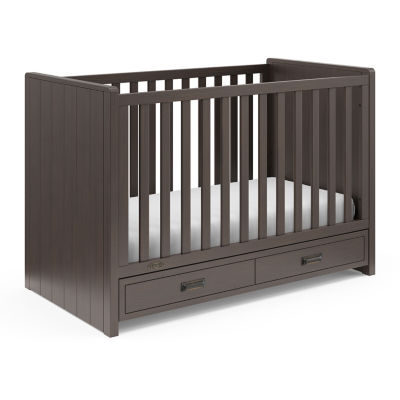 Graco Cottage 3-In-1 Baby Crib - Slate Gray