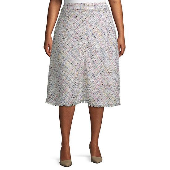 Worthington Womens Midi Pencil Skirt Plus