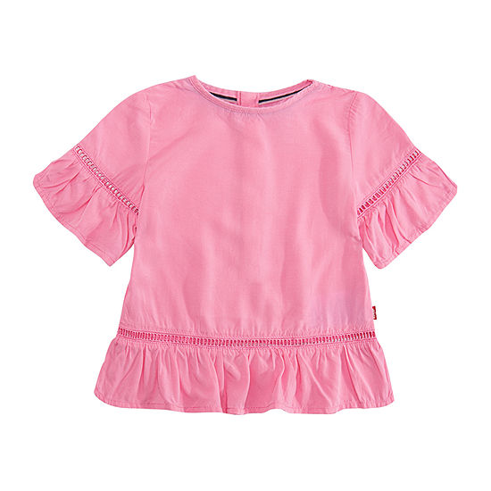 Levi's Girls Round Neck Short Sleeve T-Shirt-Toddler