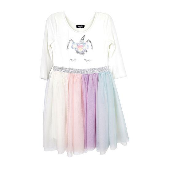 Lilt - Little Kid Girls 3/4 Sleeve Tutu Dress