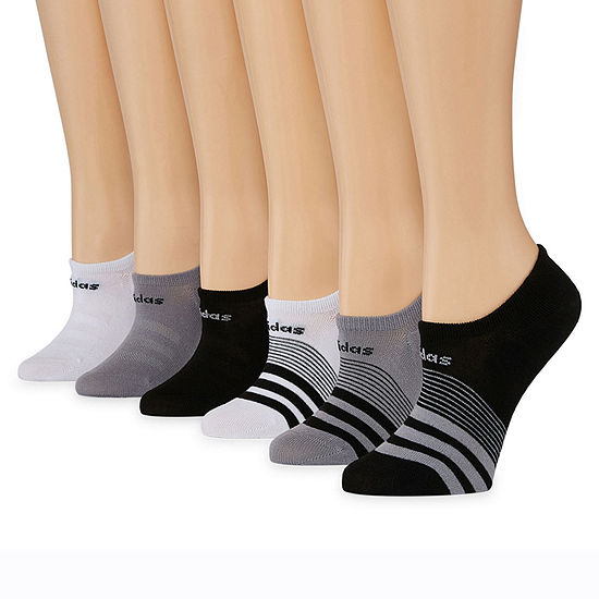 Adidas 6 Pack Superlite No-Show Socks - Womens