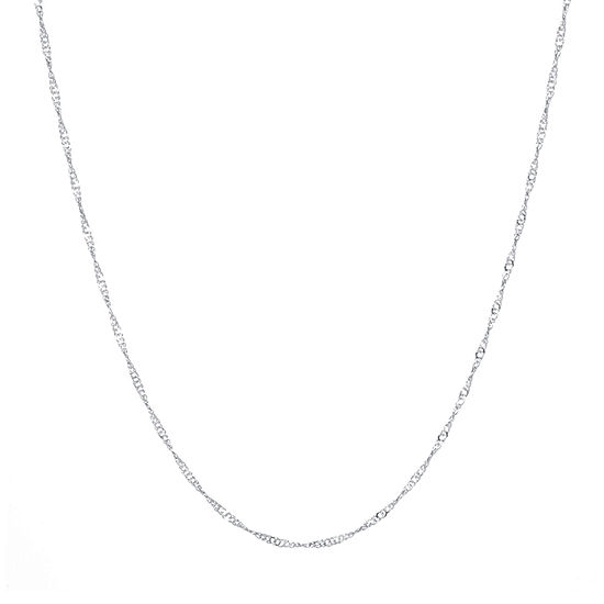 Silver Reflections Silver Reflections Pure Silver Over Brass 18 Inch Chain Necklace