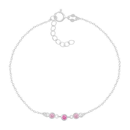 Itsy Bitsy Crystal 9 Inch Cable Ankle Bracelet