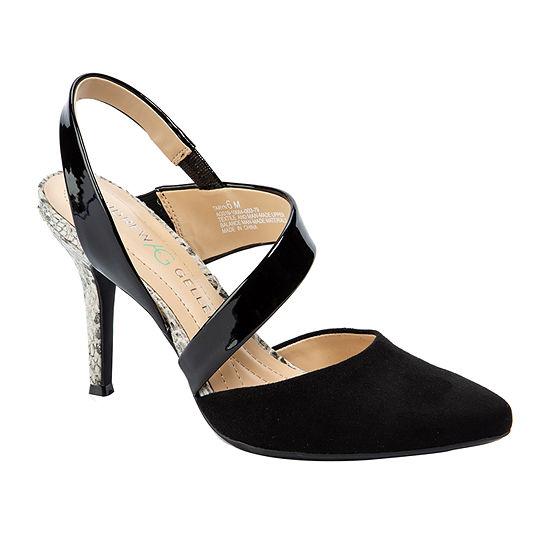 Andrew Geller Womens Taryn Pumps Pointed Toe Cone Heel
