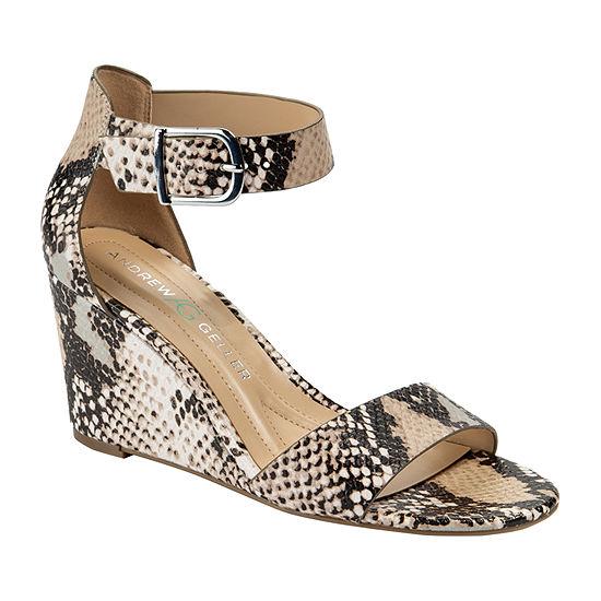 Andrew Geller Womens Beth Wedge Sandals