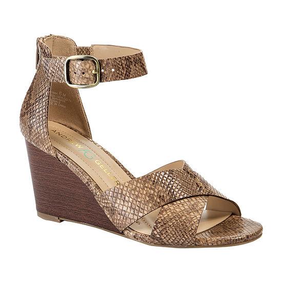 Andrew Geller Womens Bryana Wedge Sandals