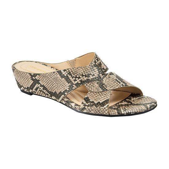 Andrew Geller Womens Indio Wedge Sandals