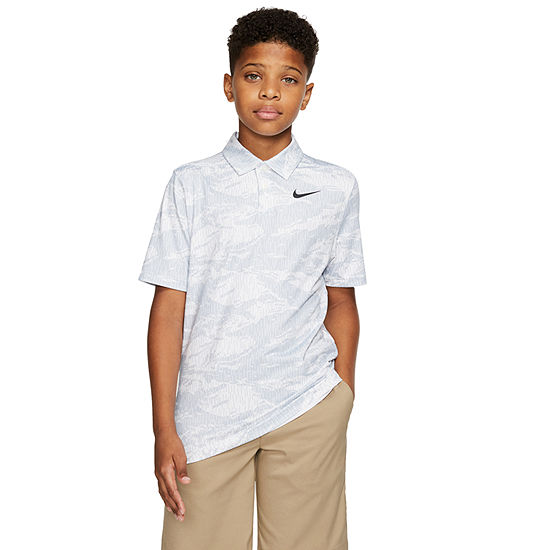 Nike Boys Spread Collar Short Sleeve Polo Shirt - Big Kid