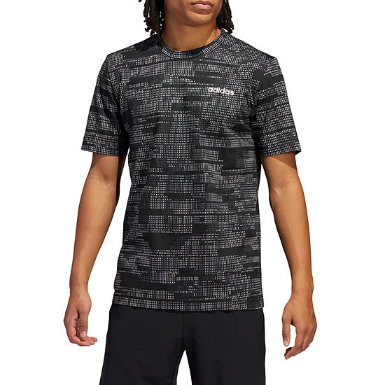 adidas-Athletic  All Over Print Mens Crew Neck Short Sleeve T-Shirt