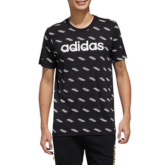 adidas All Over Print Mens Crew Neck Short Sleeve T-Shirt