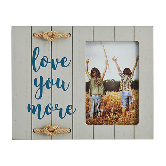Elements 9x8in Rope 4x6- Love More 1-Opening Tabletop Frame