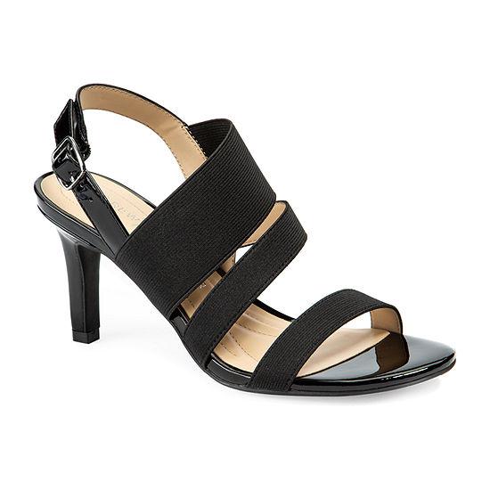Andrew Geller Womens Paisley Heeled Sandals