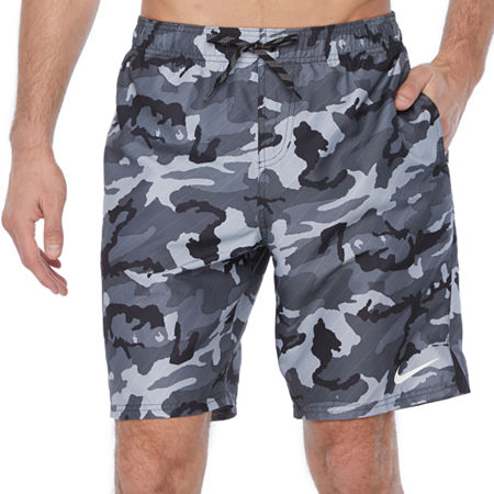 "Nike Camo 9"" Volley Shorts, Medium , Black"