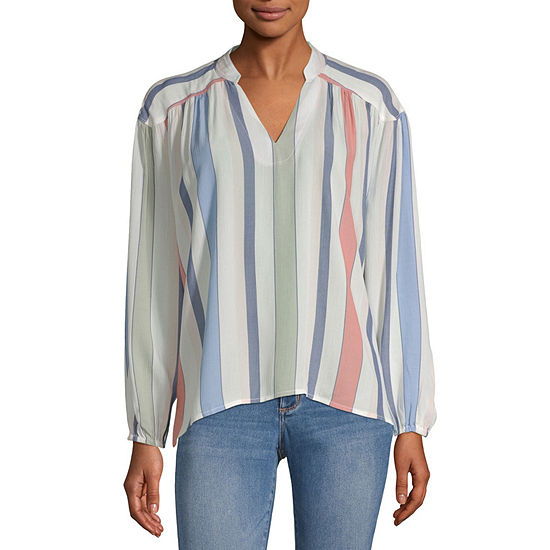 a.n.a Womens Long Sleeve Blouse