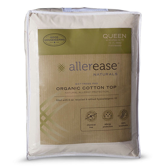 Allerease Naturals Cotton Top Mattress Pad