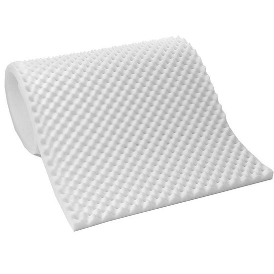 Lightweight Textured Eggcrate Foam 1/2 Mattress Topper Pad All Sizes
