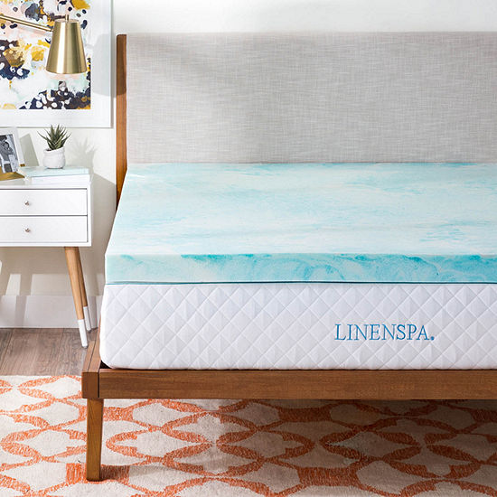 Linenspa 3 Inch Gel Swirl Memory Foam Mattress Topper