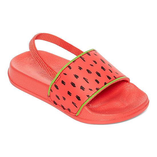 Okie Dokie Little & Big Girls Slide Sandals