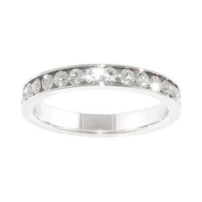 Sparkle Allure White Crystal Channel Set Band